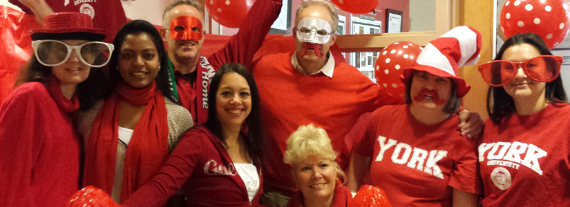 History department staff enjoy Fall 2014 York U spirit day