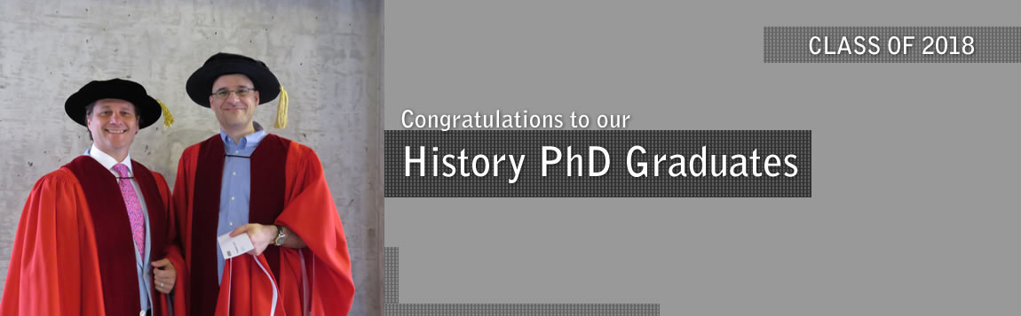 Congratulations to PhD History students